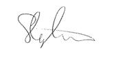 Stephen Lindringe Signiture